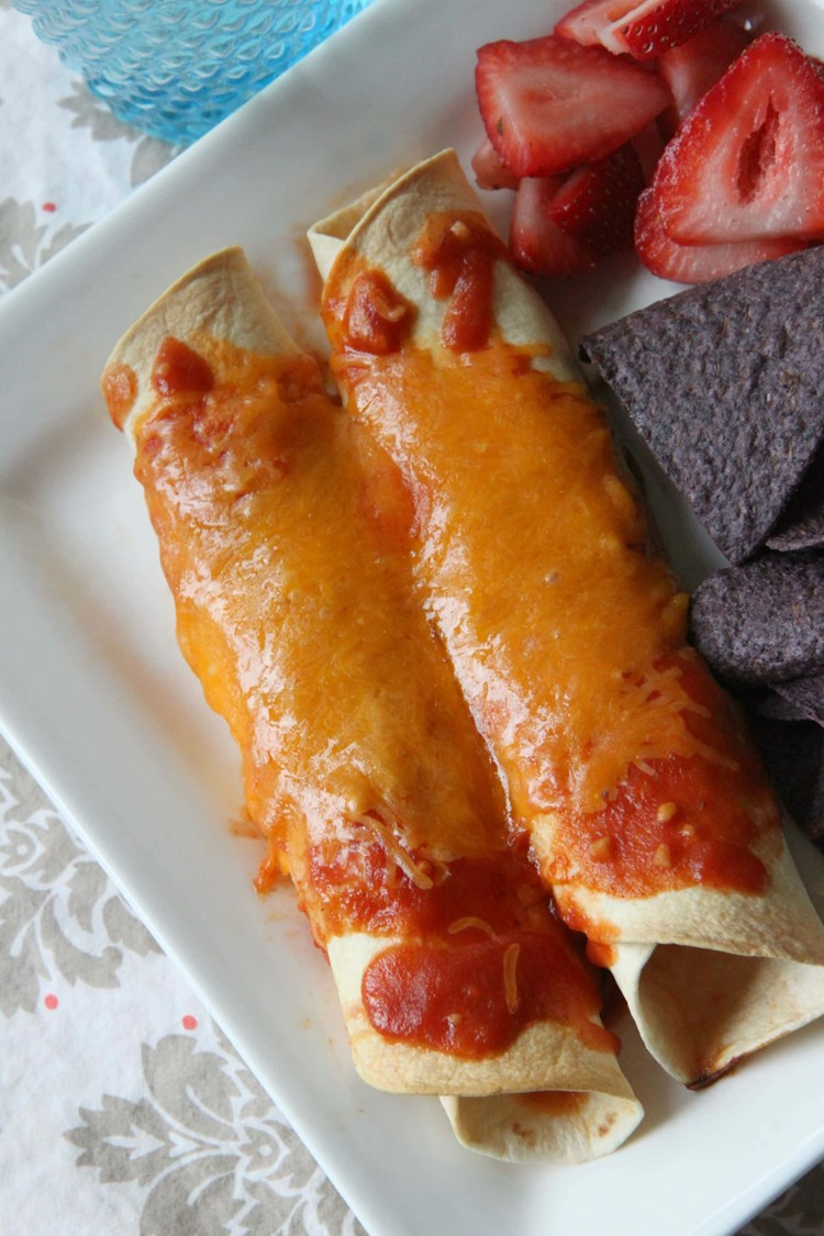 Chicken Enchiladas With Homemade Enchilada Sauce