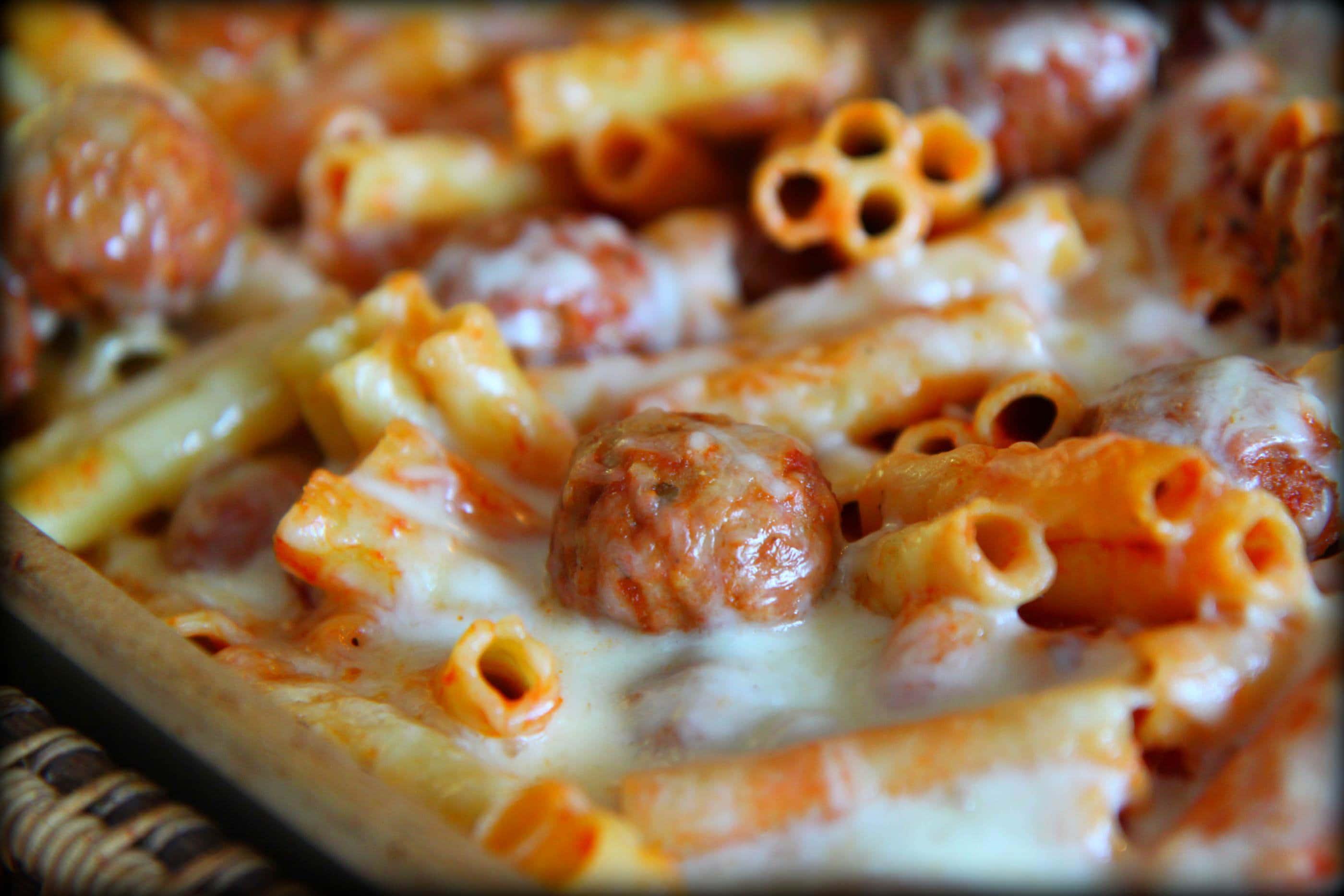 ... × 1867 in Quick Weeknight Dinner: Baked Ziti With Turkey Meatballs