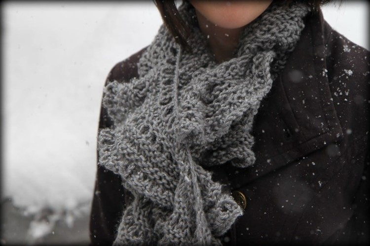 Easy Knitted Ruffled Scarf With Sashay Yarn Momadvice