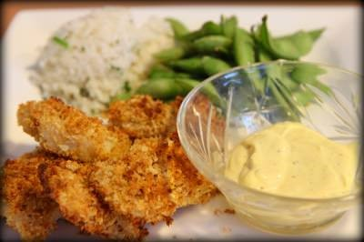 Panko Crusted Tilapia Nuggets With Dipping Sauce