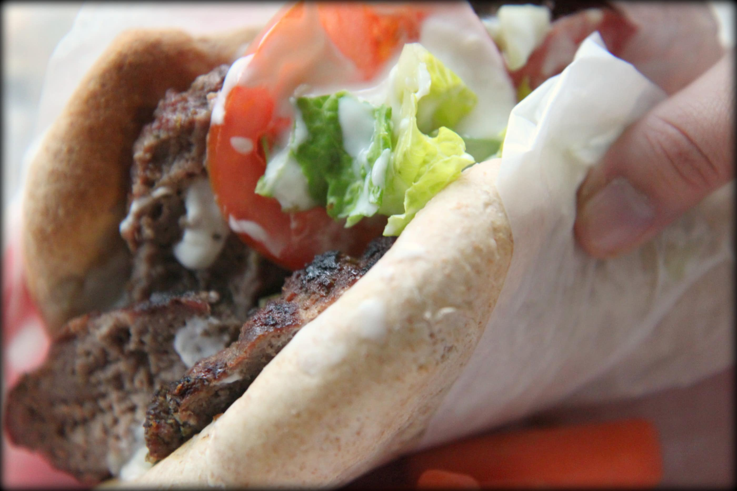Published June 5, 2011 at 2800 × 1867 in Grilled Ground Beef Gyros