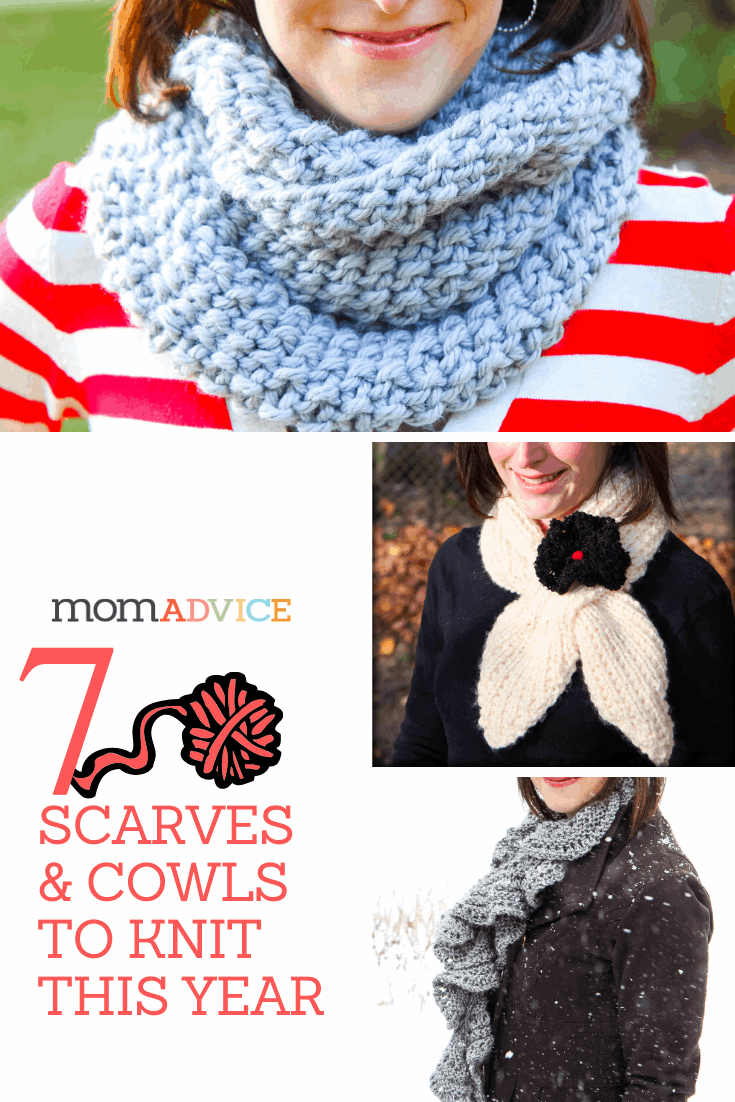 7 Easy Scarves and Cowls to Knit from MomAdvice.com