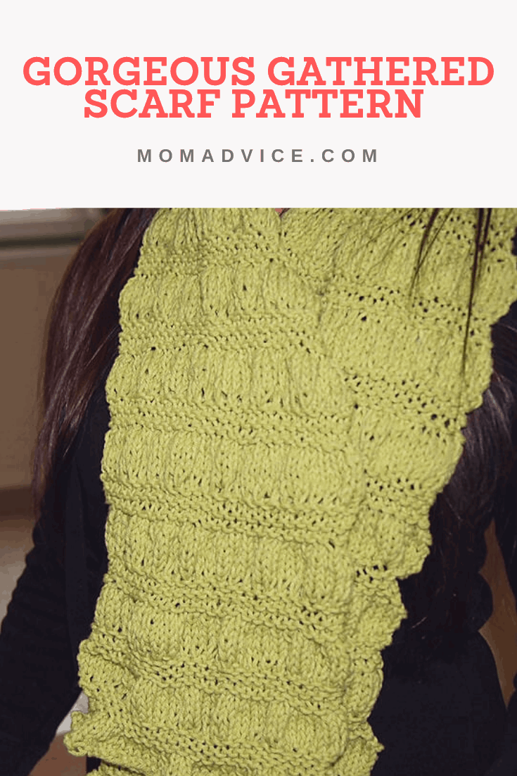 How to Knit a Gorgeous Gathered Scarf Pattern from MomAdvice.com