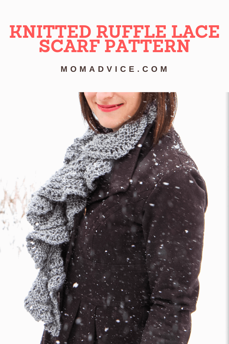 How to Knit a Ruffled Lace Scarf from MomAdvice.com