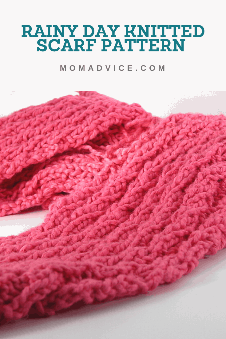 How to Knit the Rainy Day Scarf Pattern from MomAdvice.com