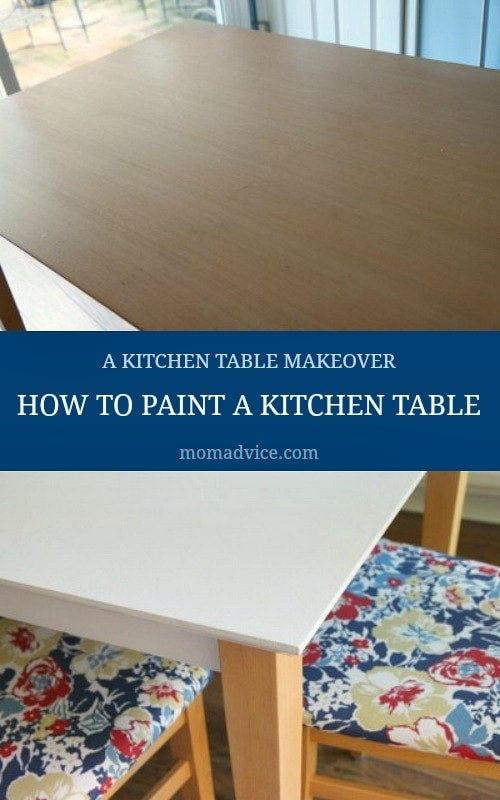 How to Paint a Kitchen Table: Our Kitchen Table Makeover