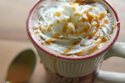 Homemade Salted Caramel Mocha Latte