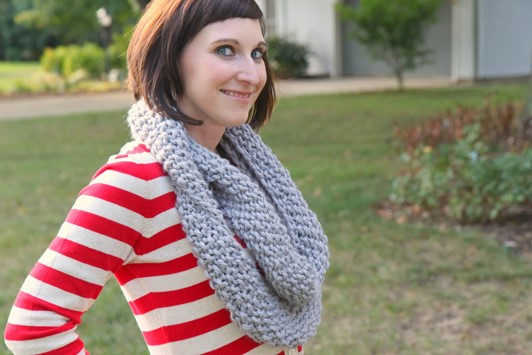 All Knitted Up: GAP-Tastic Cowl
