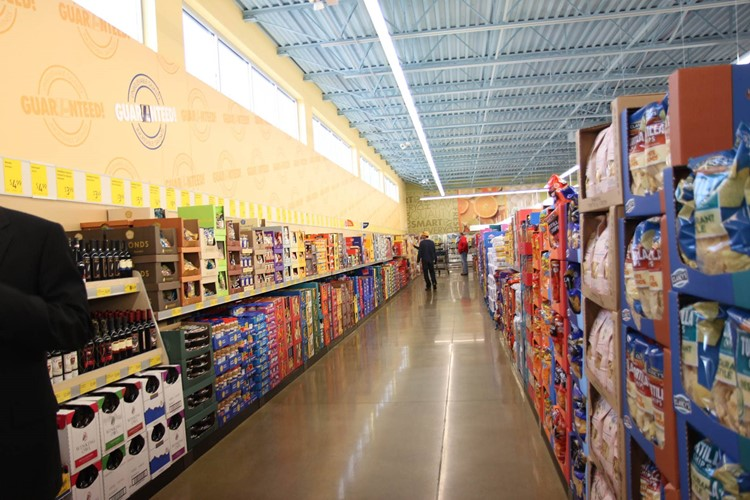 Grocery Aisles at ALDI Tour