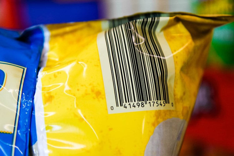 Barcodes on ALDI products