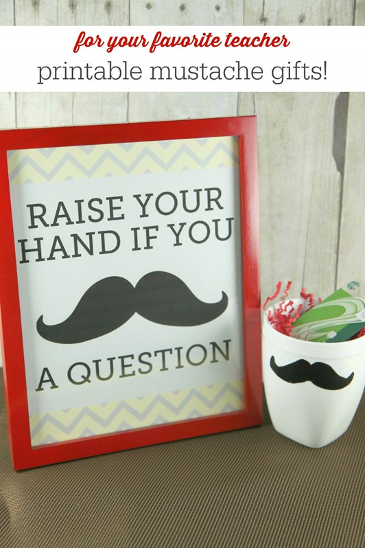Mustache Mugs & Free Mustache Printables