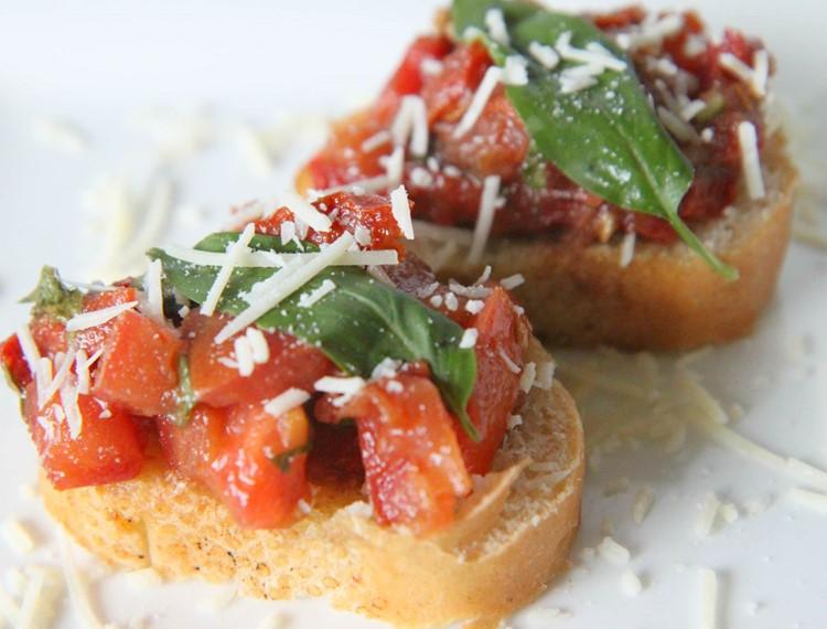 Double Tomato Bruschetta - MomAdvice