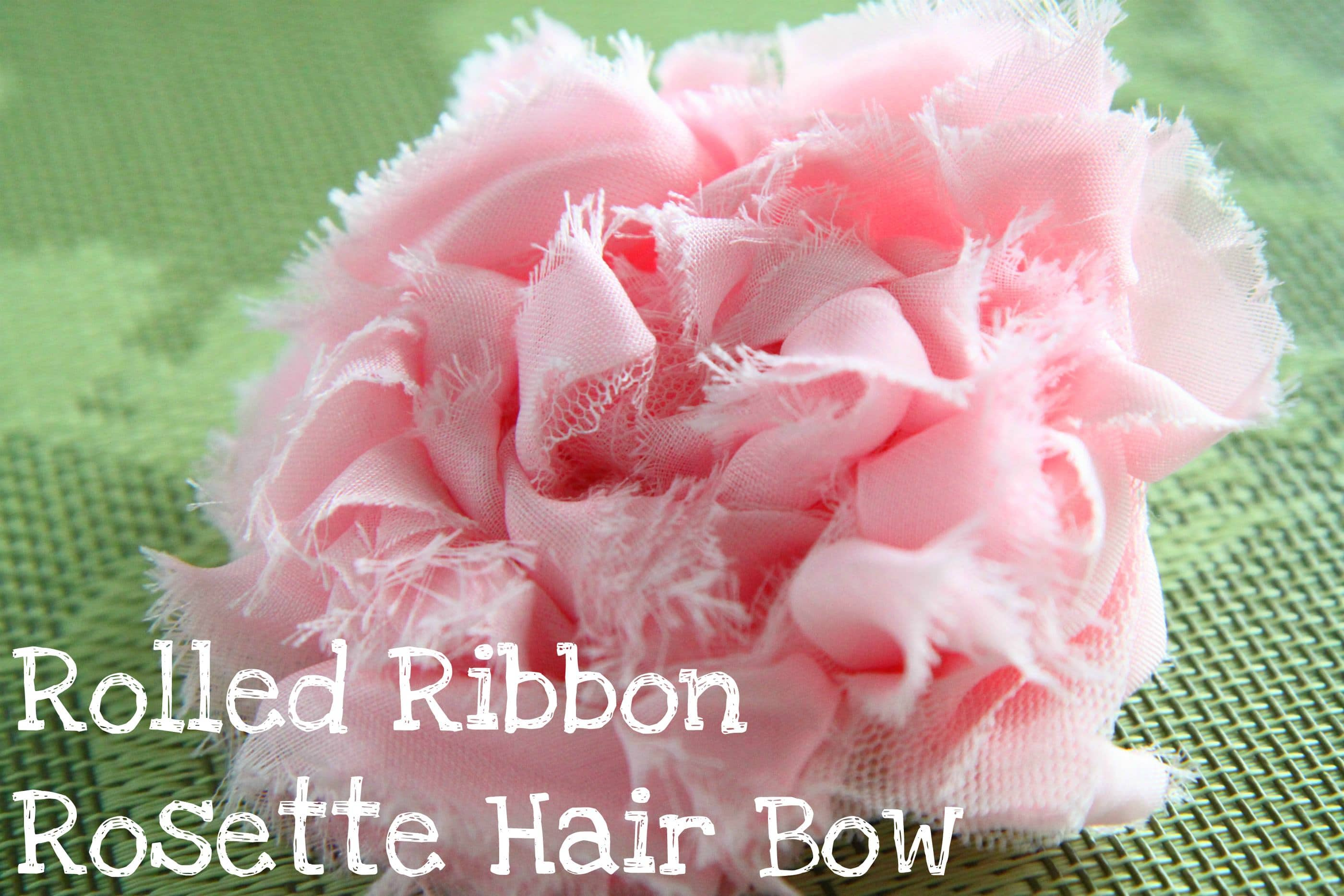 Rolled Ribbon Rosette Hair Accessory Tutorial