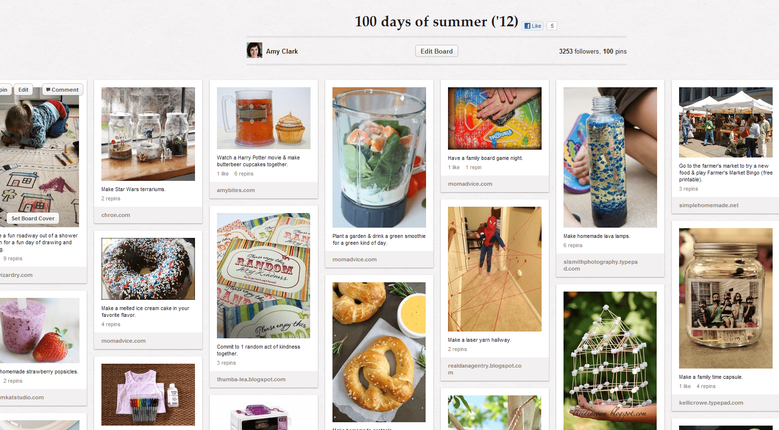 It's Another 100 Days Of Summer Pinterest Board!!!