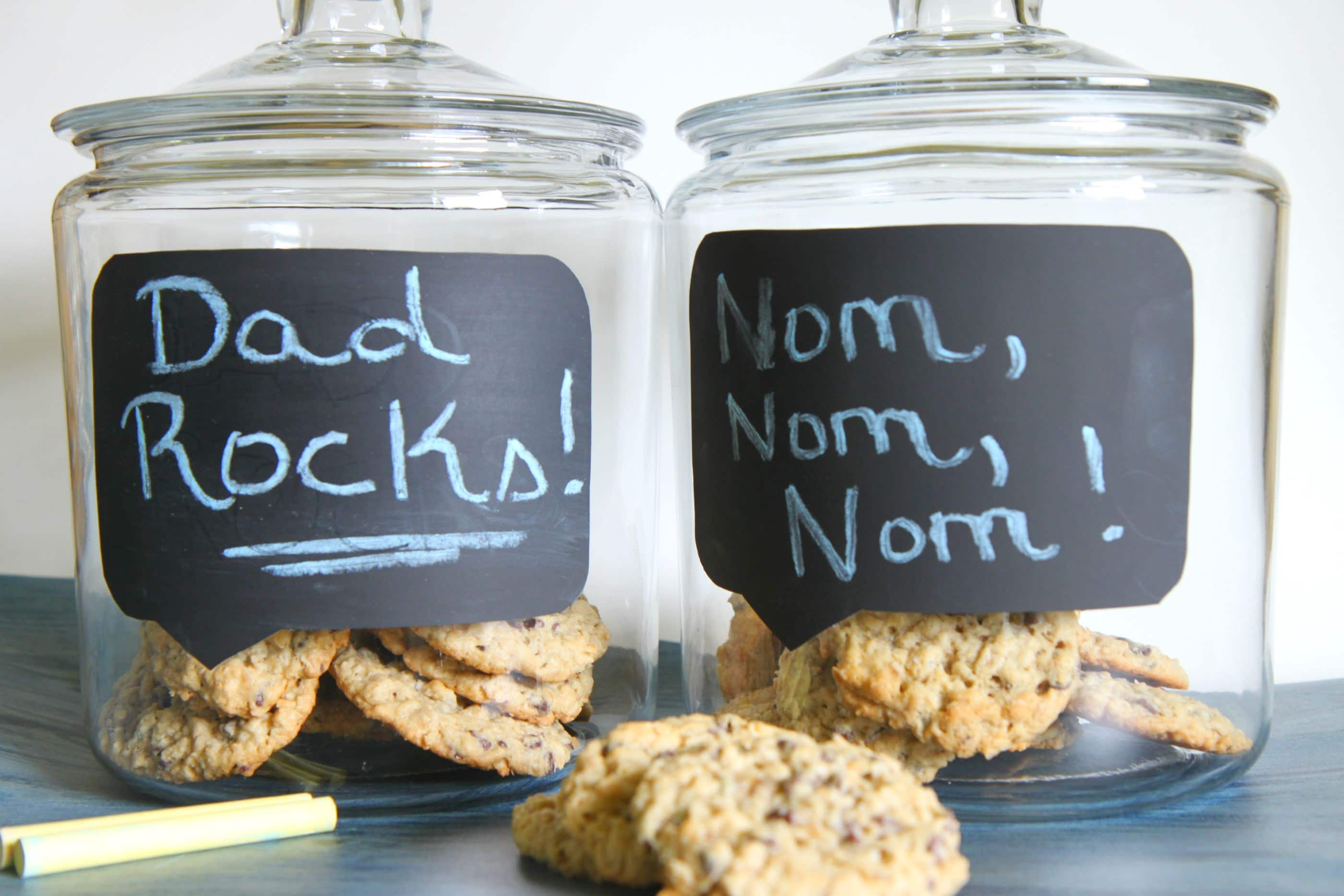 Father S Day Craft DIY Chalkboard Conversation Bubble Cookie Jars MomAdvice