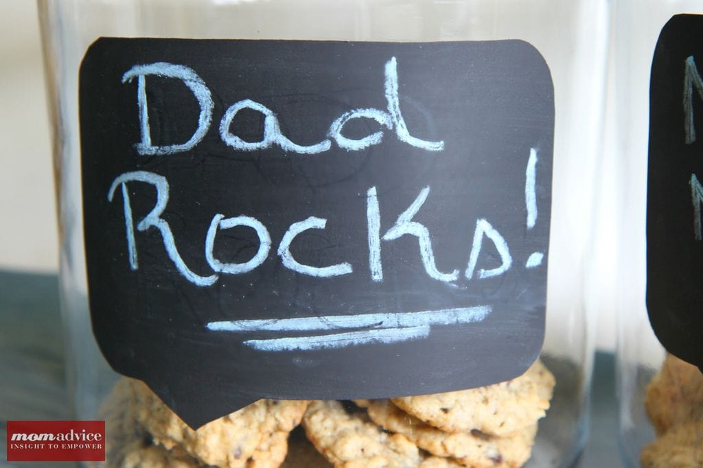 DIY Chalkboard Conversation Bubble Cookie Jars