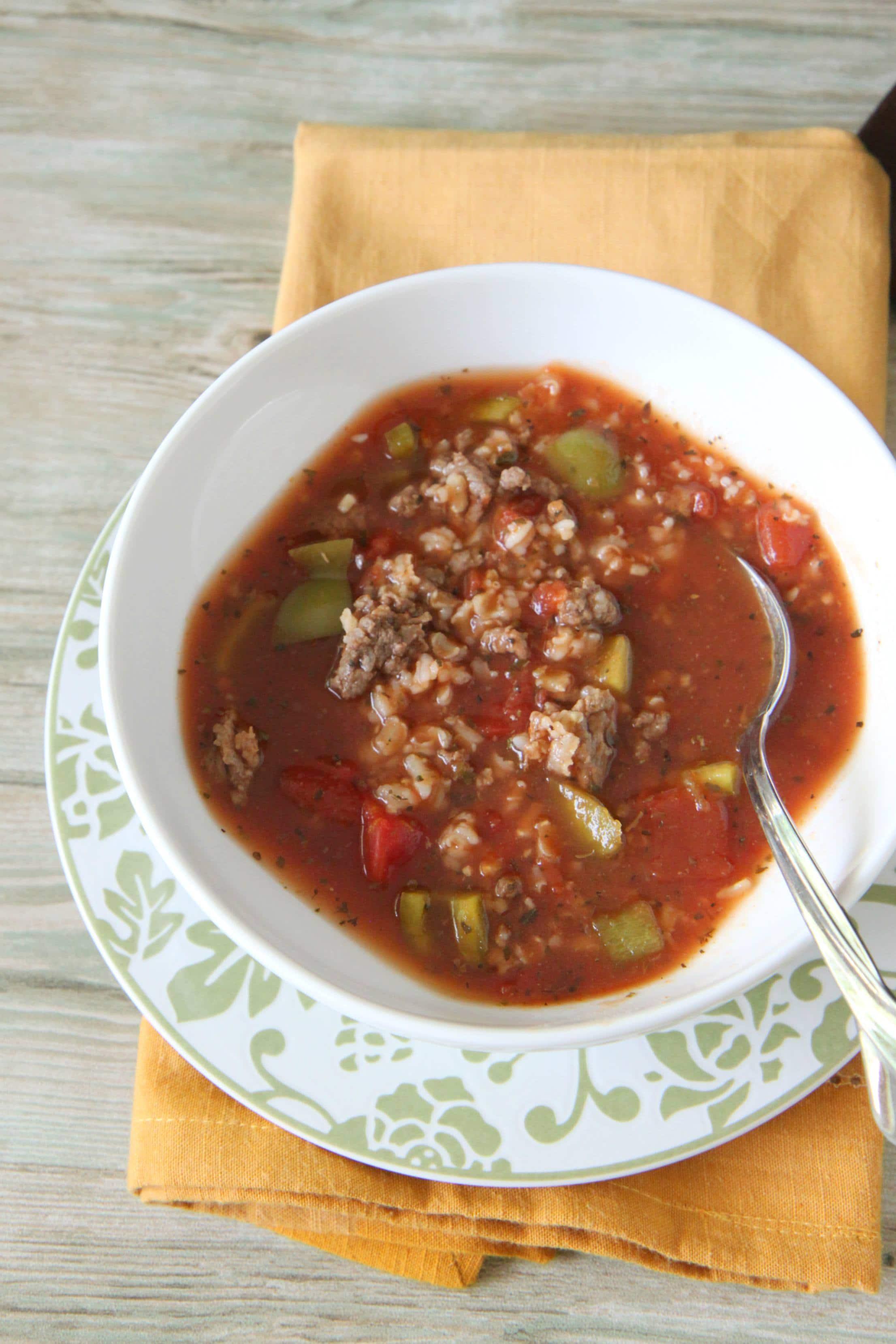 Slow Cooker Stuffed Green Pepper Soup - MomAdvice