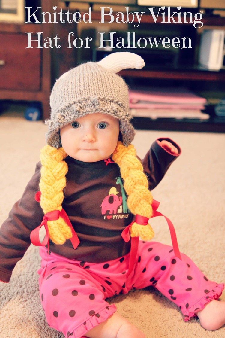 Knitted Baby Viking Hat Pattern