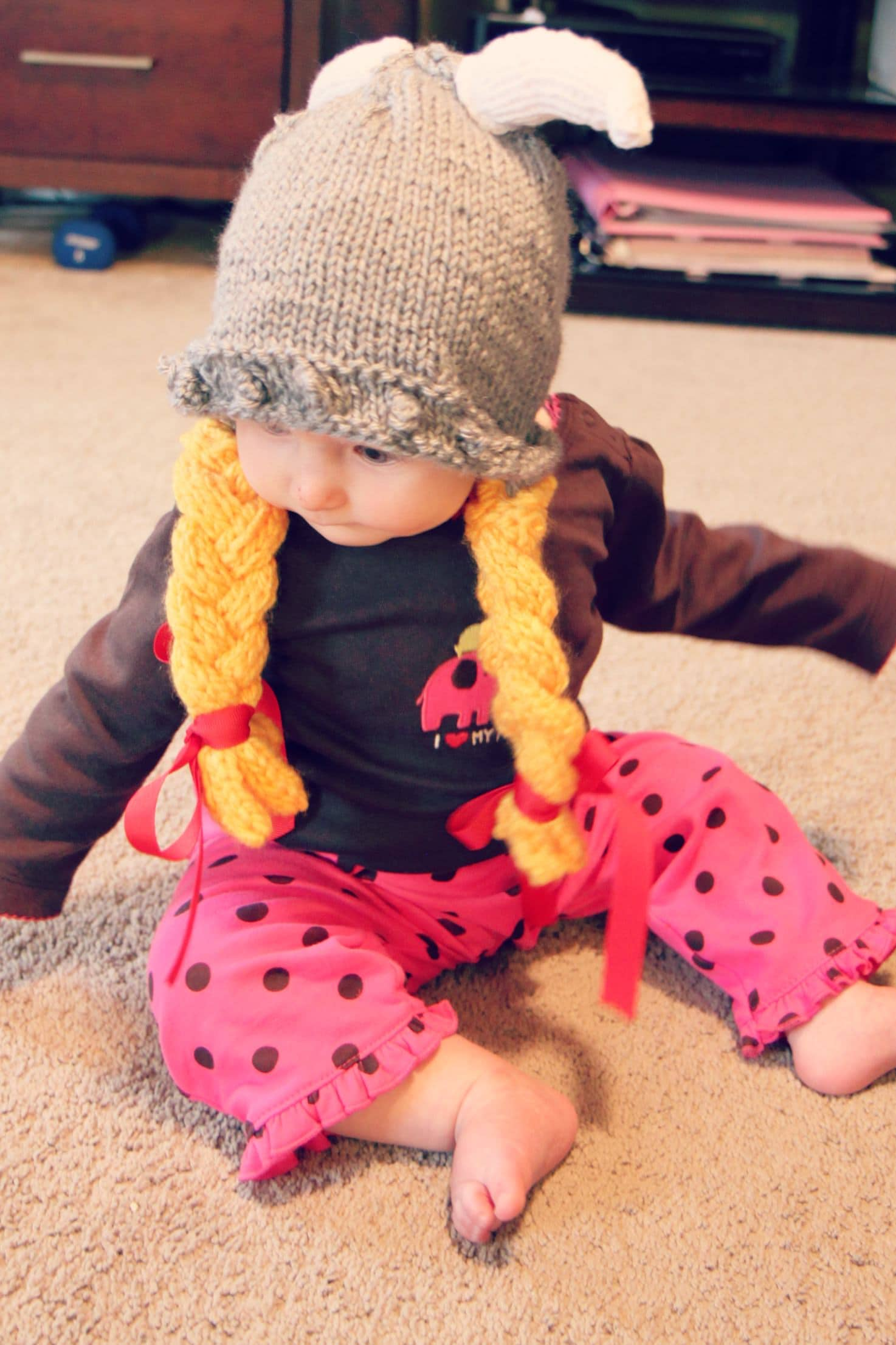 Baby Knitted Viking Hat for Halloween - MomAdvice