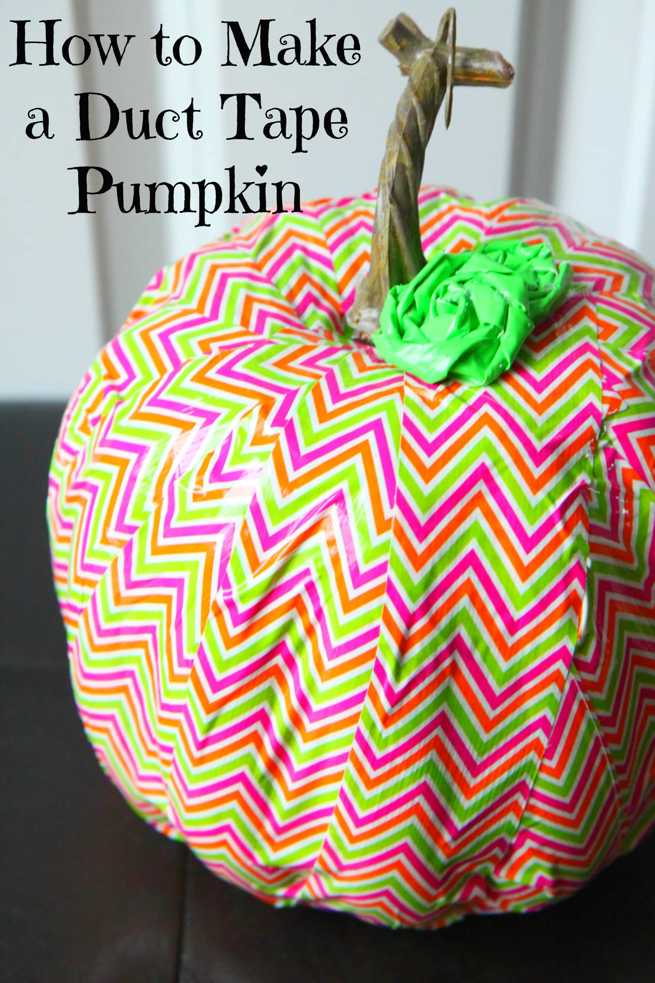 How To Make A Duct Tape Pumpkin Momadvice