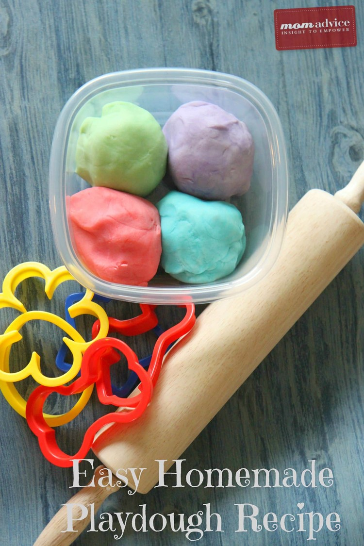 Homemade Playdough Recipe from MomAdvice.com