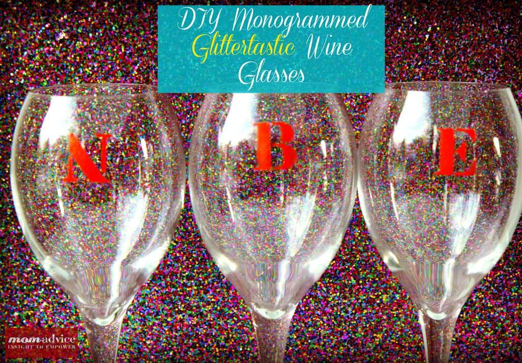 diy monogrammed wine glasses momadvice