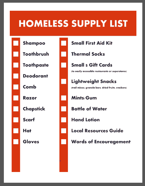 How to Make a Homeless Care Package (Free Printable Supplies ...