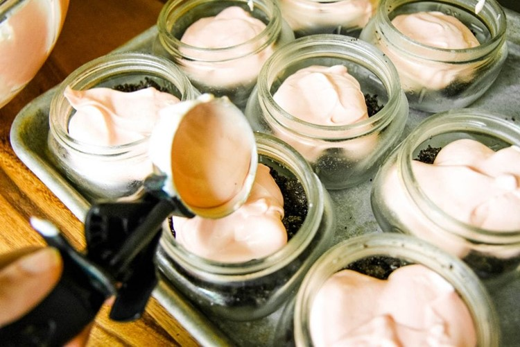 No-Bake Peppermint Cheesecake Jars from MomAdvice.com