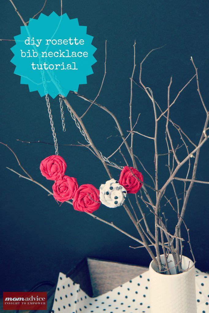 DIY Rosette Bib Necklace Tutorial: Valentine's Day ...