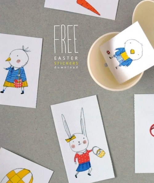 DIY Easter Stickers