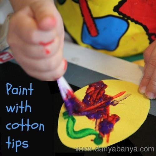 Paint with cotton tips