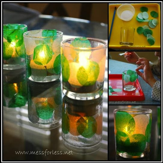 candle collage