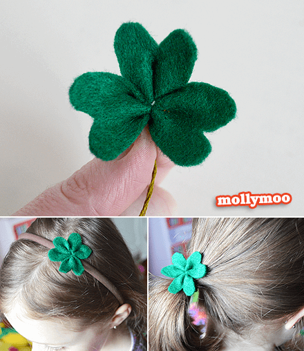 felt shamrock craft
