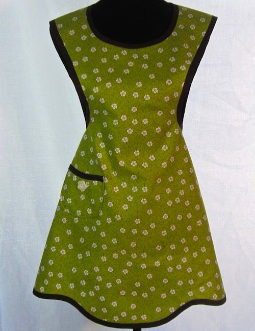 spring green apron