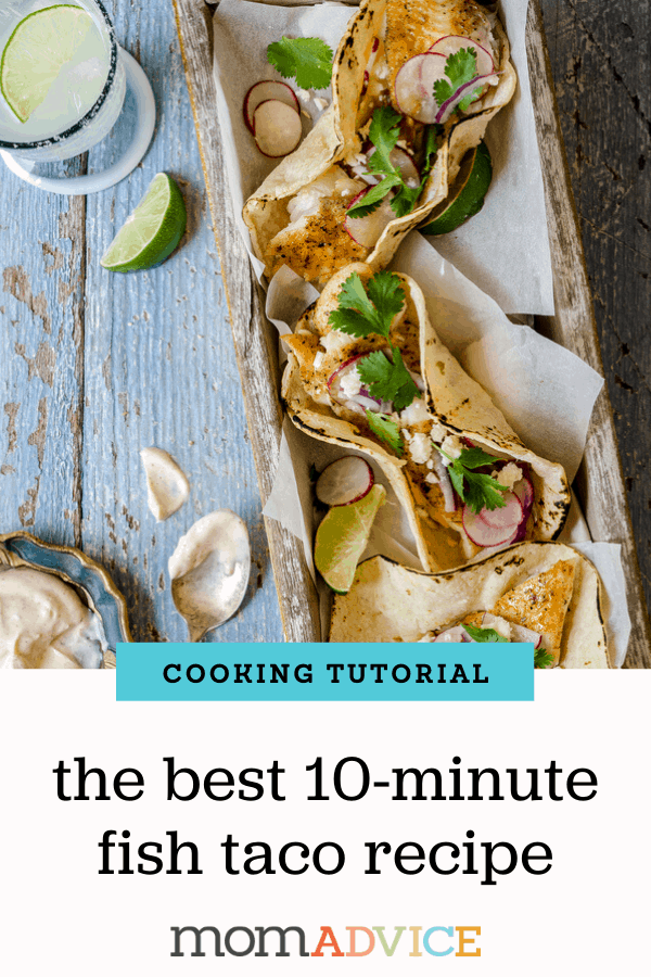 10 Minute Fish Tacos Recipe Header