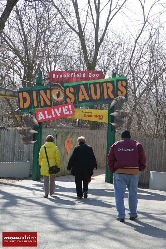 Dinosaurs Alive!  Exhibit at Brookfield Zoo