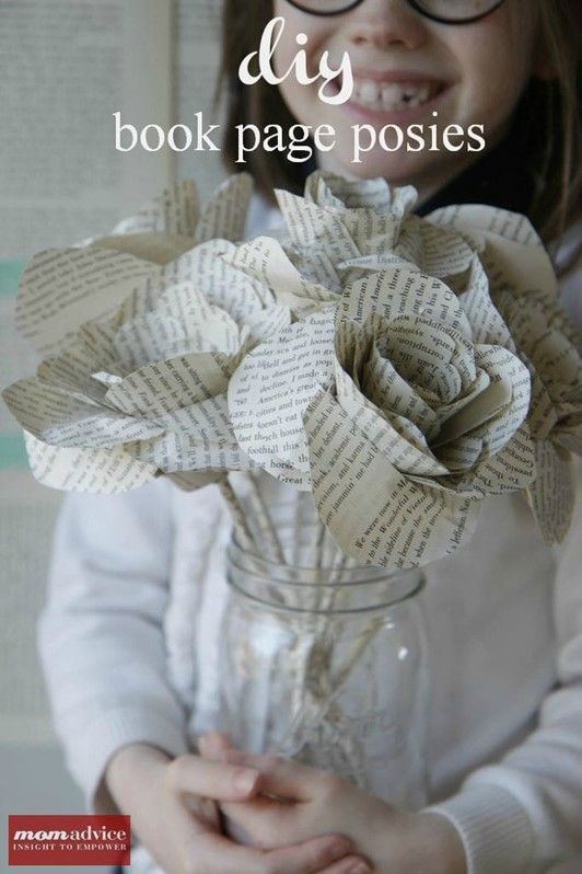 DIY Book Page Flower Tutorial (With Free Printable)