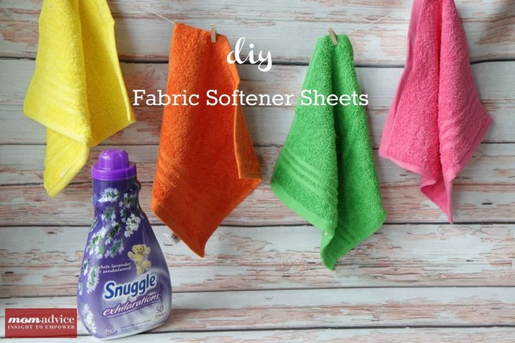 Diy fabric softener sheets momadvice - How to make your own fabric softener ...