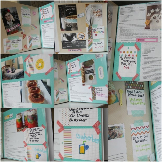 Kid made cookbook pages