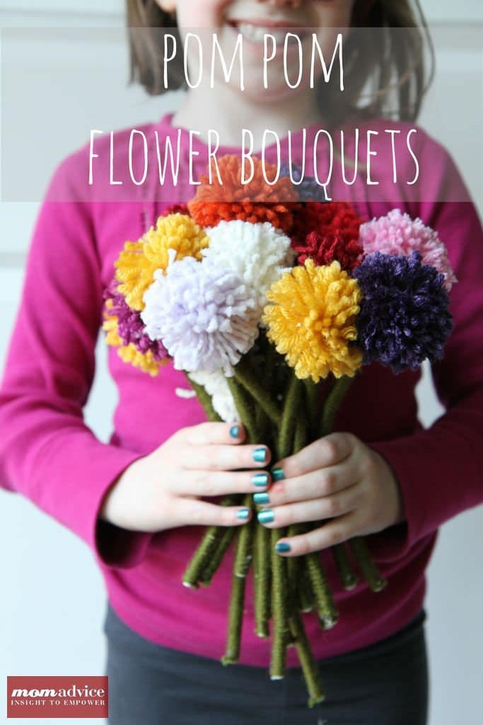 Pom Pom Flower Bouquets from MomAdvice.com