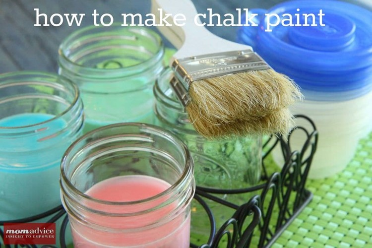 Sidewalk Chalk Paint DIY from MomAdvice.com