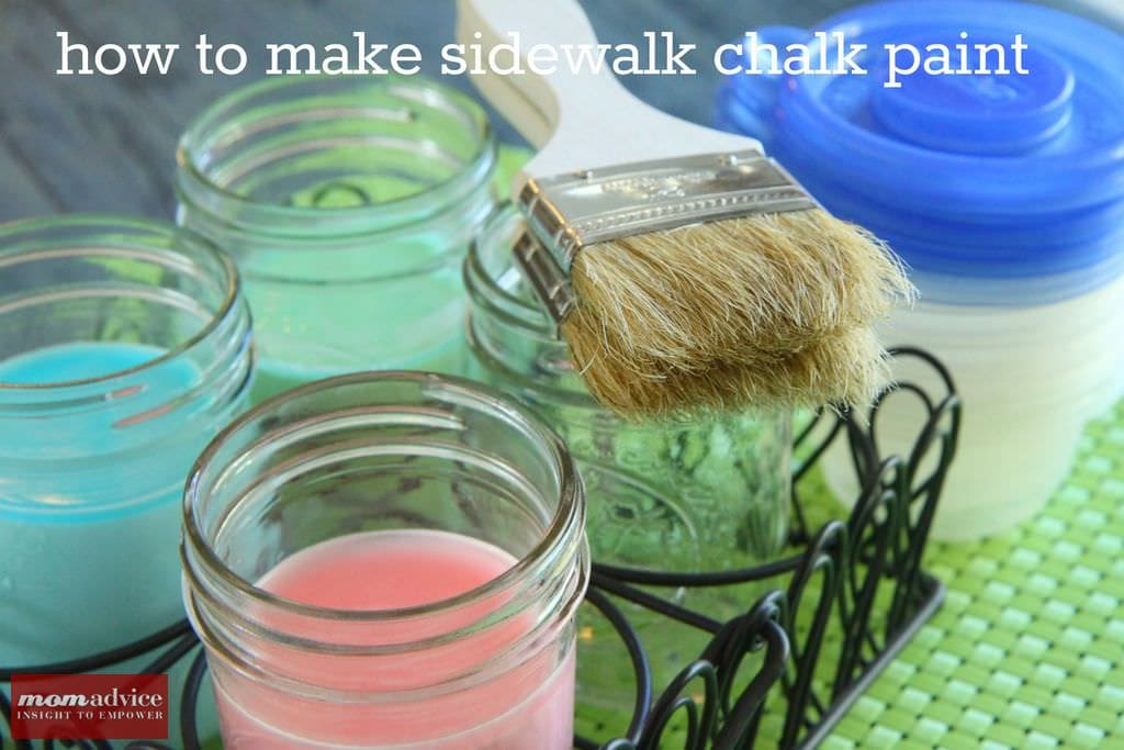 Homemade Sidewalk Chalk Paint Recipe