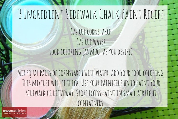 Homemade Sidewalk Chalk Paint Recipe
