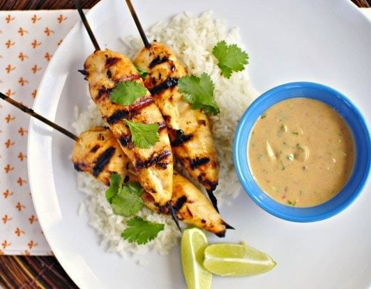 Thai-Chicken-Satay-Peanut-Sauce