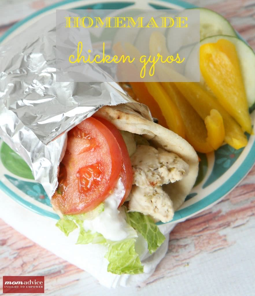 Homemade Chicken Gyros