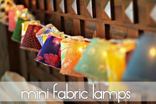 mini fabric lamps