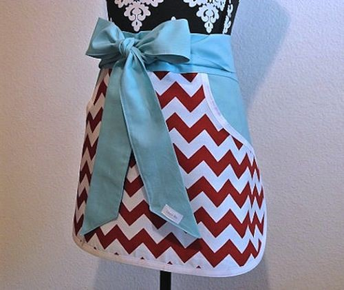 red chevron apron