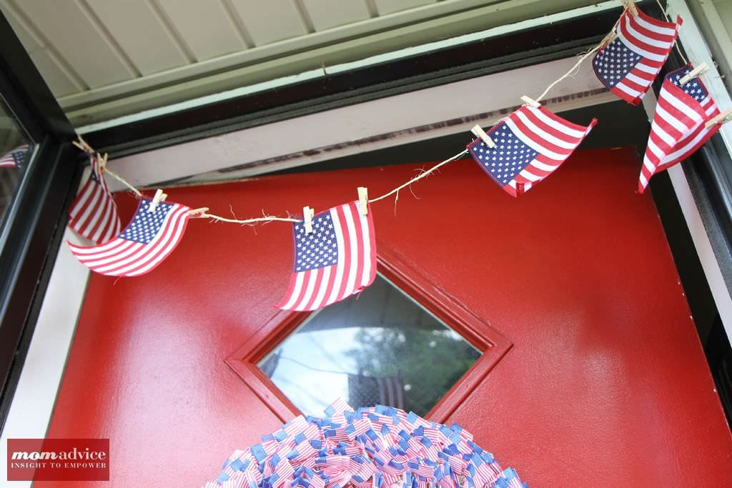 Easy Flag Bunting from MomAdvice.com.