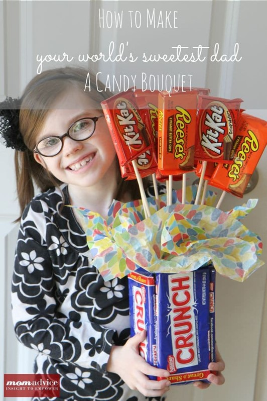 How to Make a Candy Bouquet Gift for Father's Day