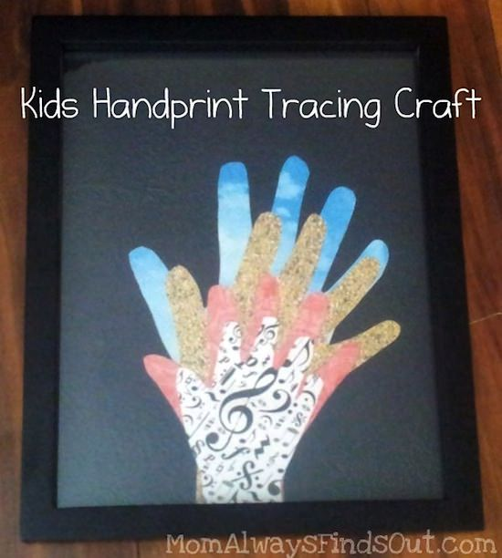 Kids handprint craft
